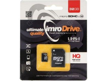 IMRO Micro SDHC 32GB + SD adaptér (blister) Class 10 / UHS-I