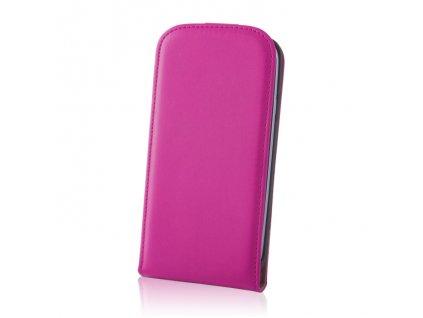 SLIGO DeLuxe vyklápěcí pouzdro HTC Desire 620 růžové