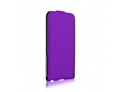 XQISIT flip pouzdro iPhone 5 / 5S / SE purple / fialové (blister)