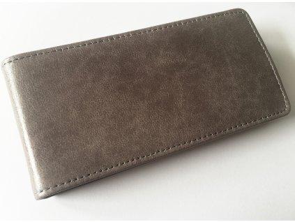 SLIGO Leather kožené vyklápěcí pouzdro LG H440 Spirit šedé