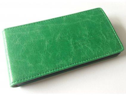 SLIGO Leather vyklápěcí kožené pouzdro Samsung G130 Galaxy Young2 zelené