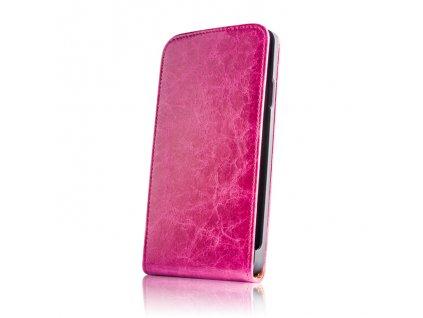 SLIGO Leather vyklápěcí kožené pouzdro Sony C1505 Xperia E růžové