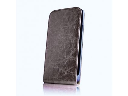 SLIGO Leather kožené vyklápěcí pouzdro Sony D2005 Xperia E1 hnědé
