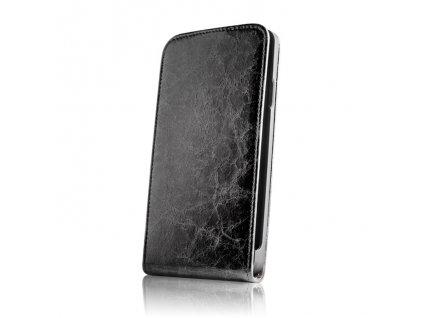 """SLIGO Leather vyklápěcí kožené pouzdro iPhone 6+ / 6S+ (5,5"""") černé"""