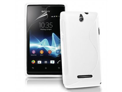 S Case pouzdro Sony Xperia E, C1505 transparent white