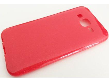 Pouzdro Ultra Shine Samsung J500 Galaxy J5 perleťově červené