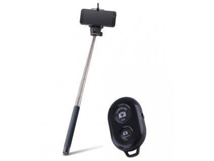 Selfie tyč Forever MP-200 STANDART + dálkový ovladač black / černá