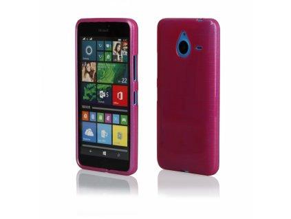 Pouzdro JELLY Case Metalic Microsoft Lumia 640 XL růžové