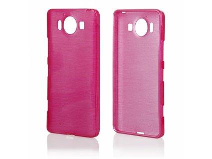 Pouzdro JELLY Case Metalic Microsoft Lumia 950 růžové