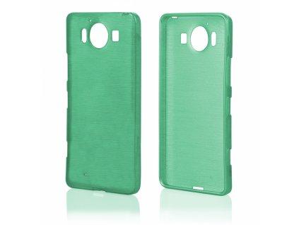 Pouzdro JELLY Case Metalic Microsoft Lumia 950 zelené