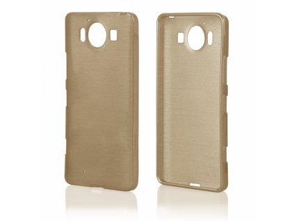 Pouzdro JELLY Case Metalic Microsoft Lumia 950 zlaté