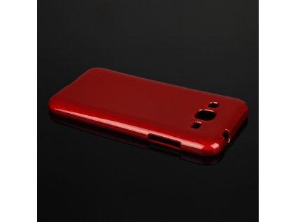 Pouzdro JELLY Case Metalic Samsung J200 Galaxy J2 červené