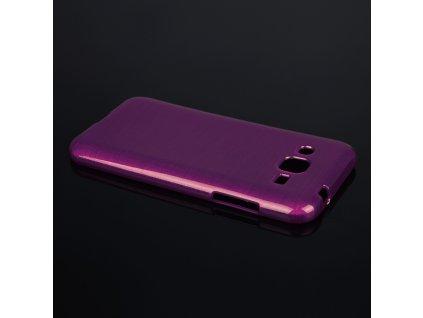 Pouzdro JELLY Case Metalic Samsung J200 Galaxy J2 fialové