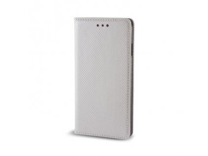 Pouzdro Smart Magnet pro LG K8 stříbrné