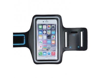 Armband univerzální bicepsové pouzdro na běhání 70 x 135mm - černé