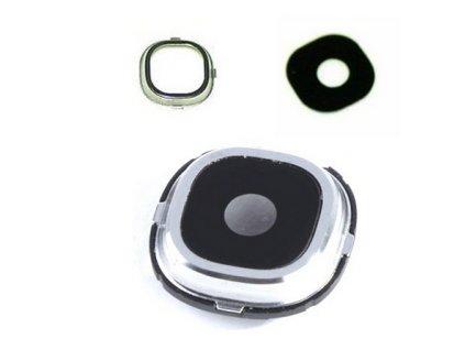SAMSUNG i9500, i9505 Galaxy S4 sklíčko kamery + rámeček white / bílý