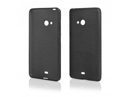 Pouzdro JELLY Case Metalic Microsoft Lumia 540 černé
