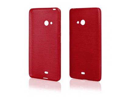 Pouzdro JELLY Case Metalic Microsoft Lumia 540 červené
