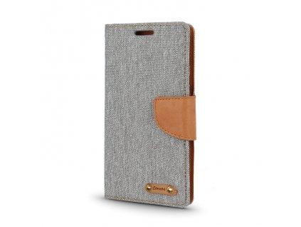 Smart Book pouzdro LG K130, K4 šedé (CANVAS EDITION)