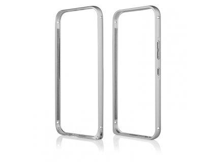 Pouzdro Bumper ALU METAL hliníkový rámeček HTC ONE M9 stříbrný