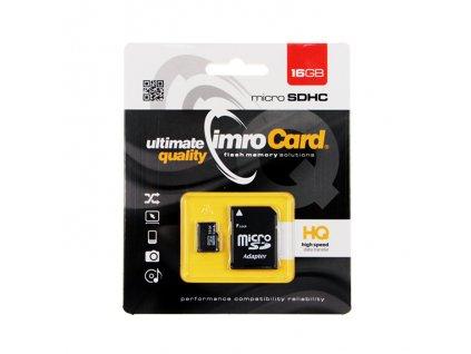 IMRO Micro SDHC 16GB + SD adaptér (blister) Class 10 / UHS-I