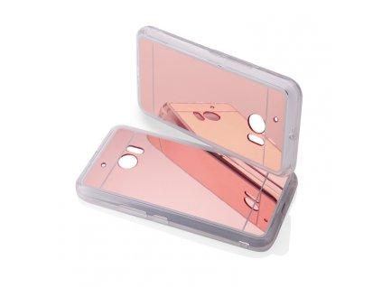 MIRROR CASE pouzdro HTC One M10 rose-gold / růžovo-zlaté