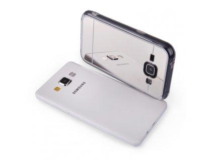MIRROR CASE pouzdro Samsung J100 Galaxy J1 silver / stříbrné