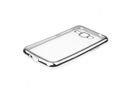 GLOSSY CASE pouzdro Samsung J120 Galaxy J1 (2016) silver / stříbrné