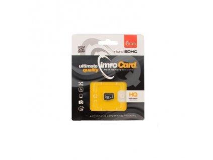 IMRO Micro SDHC 8GB + SD adaptér class 10 (blister)