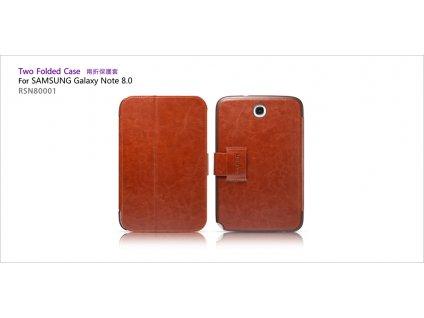 Pouzdro ICARER Flip Case pro Samsung Note 8.0 - hnědá