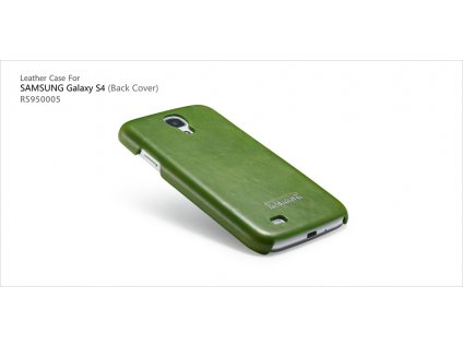 ICARER Leather Back Cover pro Samsung i9500/i9505 Galaxy S4 - zelená