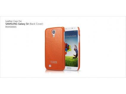 ICARER Leather Back Cover pro Samsung i9500/i9505 Galaxy S4 - oranžová