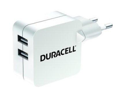 Nabíječka Duracell DRACUSB4W Dual USB bílá