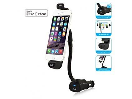 Naztech N4050 dobíjecí držák do autozapalovače pro iPhone 5/5s, 6/6S, 6+/6S+, 7, 8,...