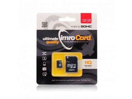 Pametova karta MICRO SD 128GB IMRO adapter SD blistr class 10 UHS