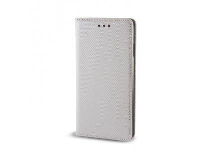 Pouzdro Smart Magnet pro Sony Xperia XZ stříbrné