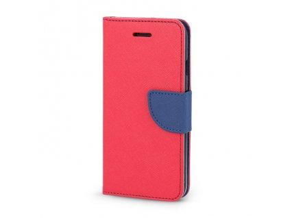 Smart Book pouzdro LG X Power červená / modrá (FAN EDITION)