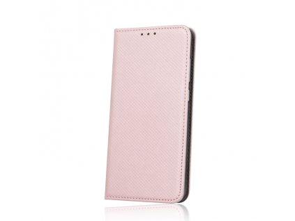 Pouzdro Smart Magnet pro LG K10 2017 růžovo-zlaté