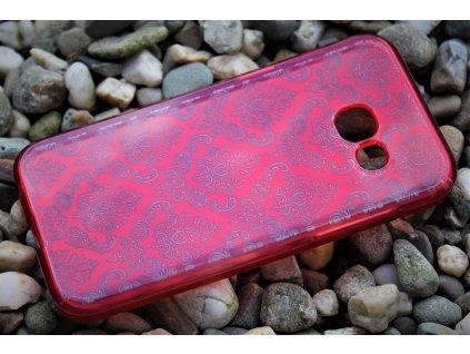 Pouzdro ORNAMENT pro Samsung A320 Galaxy A3 2017 červené