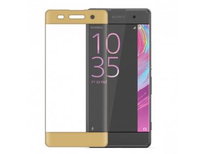 Wozinsky tvrzené sklo pro Sony Xperia XA, 3D zahnuté, zlaté (9H, 0,26mm) 7426790579022