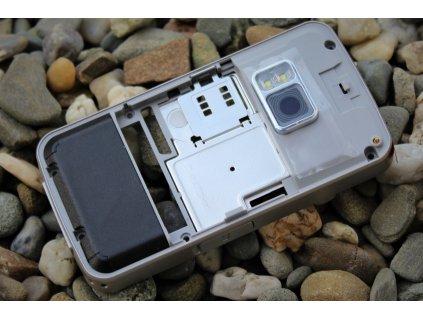 NOKIA N96 střední kryt silver / stříbrný