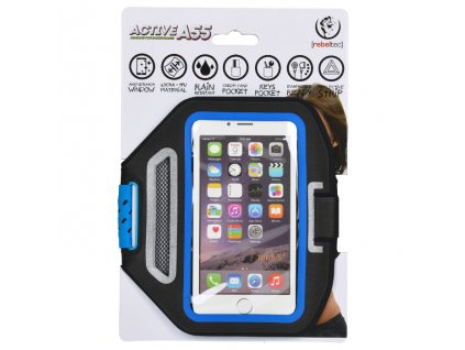 """Rebeltec Active A55 bicepsové pouzdro na telefon 5,5"""" černé"""
