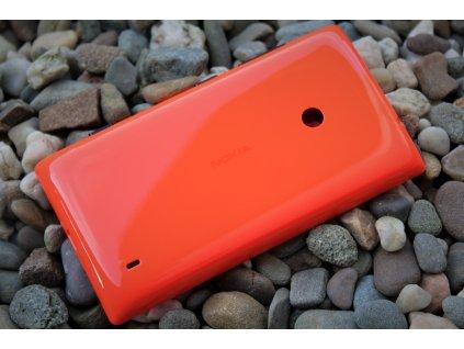 NOKIA 520 Lumia zadní kryt oranžový (02506M2, 00812N6)