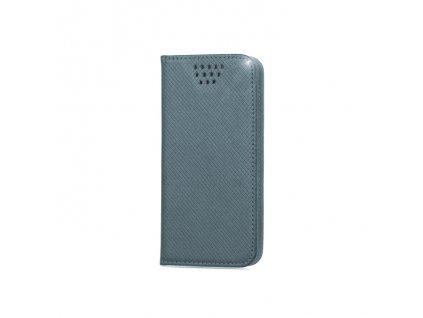 """Smart Book pouzdro univerzální pro telefony 4,5"""" - 5"""" šedé (MAG EDITION)"""