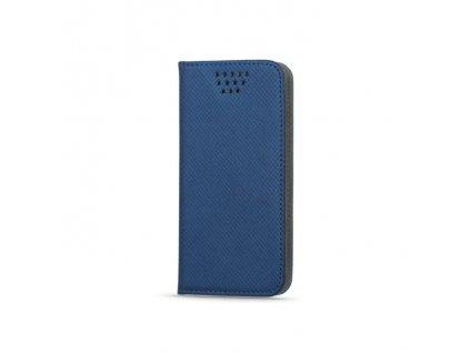 """Smart Book pouzdro univerzální pro telefony 4,7"""" - 5,3"""" modré (MAG EDITION)"""