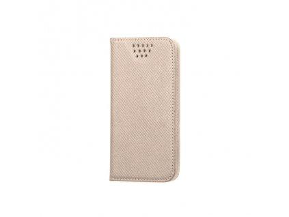 """Smart Book pouzdro univerzální pro telefony 4,7"""" - 5,3"""" zlaté (MAG EDITION)"""