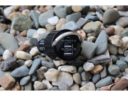 OEM univerzální nabíječka do auta s výstupem 2xUSB 3,1A černá iPhone / iPad