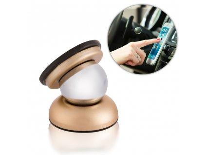 Rotable 360 držák do auta magnetický zlatý