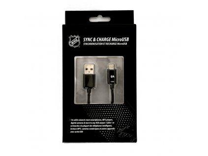 NHL LGX-11238 micro USB datový / dobíjecí kabel - Chicago Blackhawks