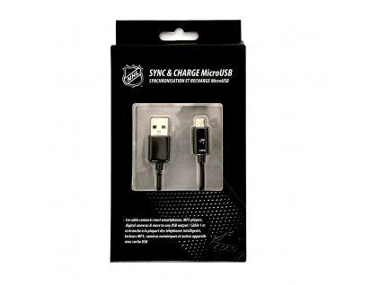 NHL LGX-11241 micro USB datový / dobíjecí kabel - Minnesota Wild